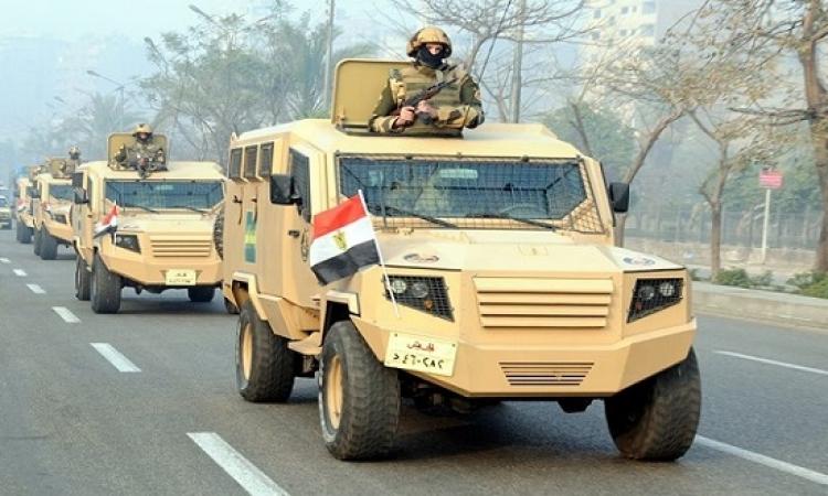 بالصور .. الجيش يؤمن ويشارك فى إحتفالات عيد تحرير سيناء