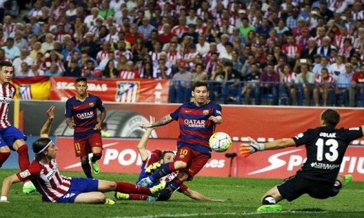برشلونة وأتلتيكو مدريد فى ديربى إسبانى نارى