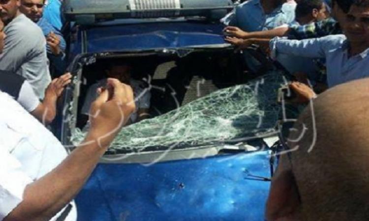بالصور .. مقتل عامل وإصابة آخرين برصاص أمين شرطة بالرحاب