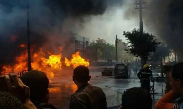 بالصور .. السيطرة على حادث انفجار مقطورة مواد بترولية بالأسكندرية