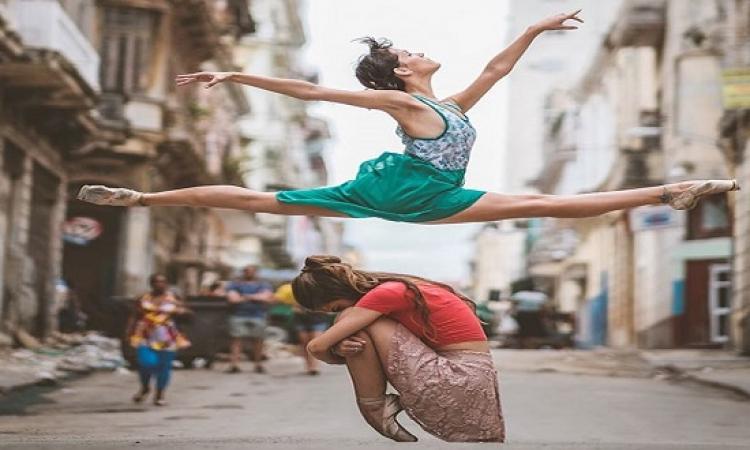 بالصور .. فى كوبا بيرقصوا بالية فى الشارع .. بلد فنون صحيح !!