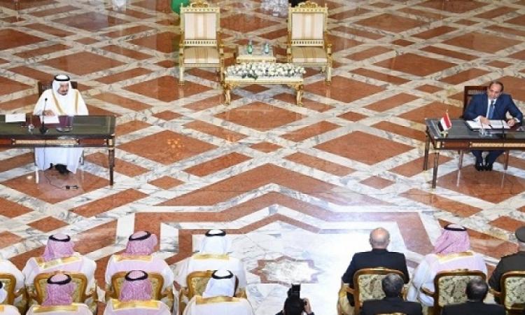 نص كلمة السيسى خلال المؤتمر المشترك مع الملك سلمان