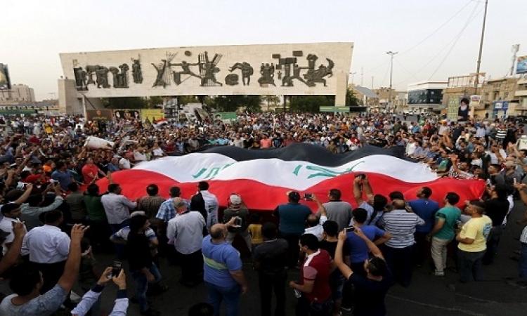 مظاهرات عارمة لأنصار الصدر أمام بوابة المنطقة الخضراء