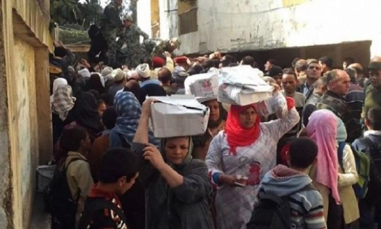 الجيش يوزع أكثر من نصف مليون حصة غذائية على المواطنين بالمحافظات