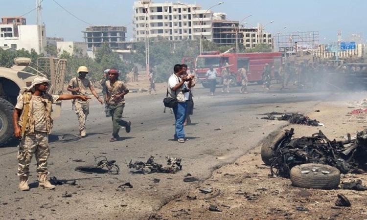 عشرات القتلى والجرحى بتفجيرين متتاليين فى عدن