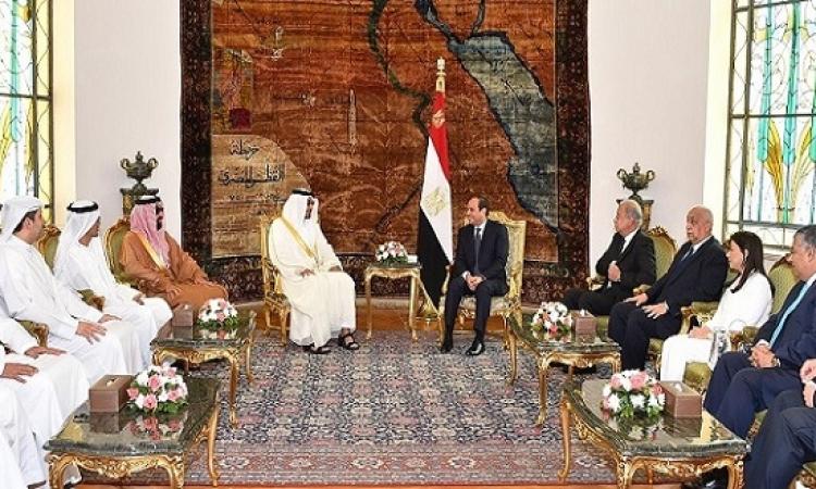 بالصور .. السيسى يبحث مع ولى عهد ابو ظبى العلاقات الثنائية وقضايا المنطقة