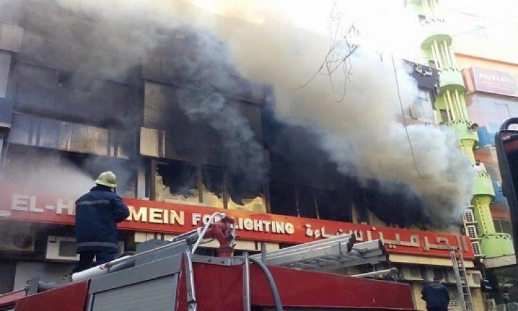 تجدد اشتعال النيران فى حريق العتبة وارتفاع المصابين إلى 79