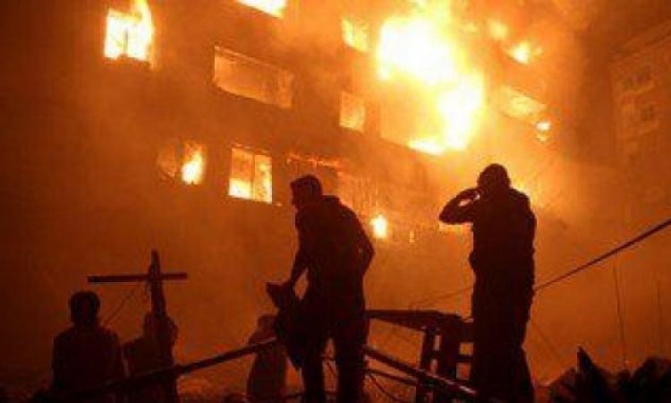 السيطرة على حريق فندق الرويعى بالموسكى وارتفاع المصابين إلى 45