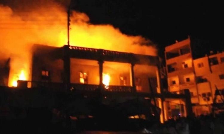 الحماية المدنية.. صعوبة السيطرة على حريق مخزن الفجالة