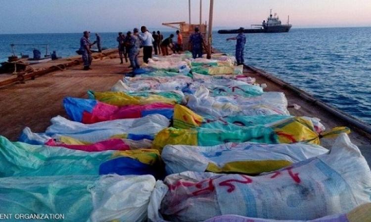 القوات البحرية تحبط محاولة تهريب 4 أطنان بانجو جنوب سيناء