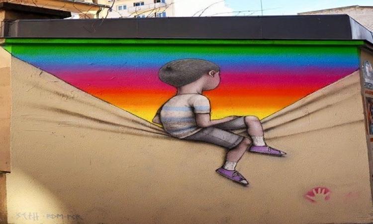 بالصور.. فن الرسم على الجدران