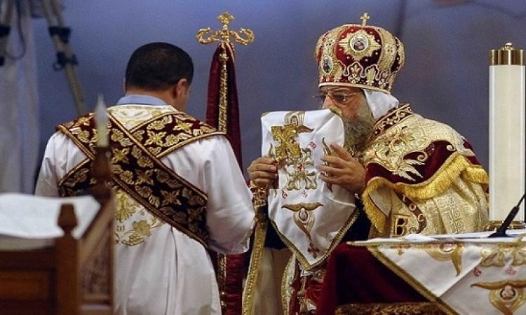 البابا تواضروس الثانى يرأس قداس عيد القيامة المجيد بالكاتدرائية المرقسية