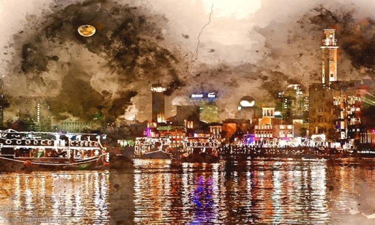 بالصور .. هندى يحول معالم الإمارات للوحات مدهشة