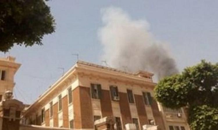 ولا تزال الحرائق مستمرة .. النيران تشتعل بمبنى محافظة القاهرة