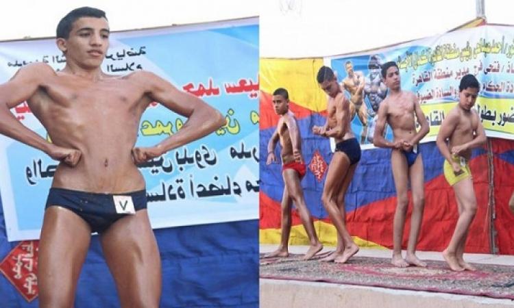 بالصور .. كوميديا مسابقة كمال الأجسام بالقاهرة !!