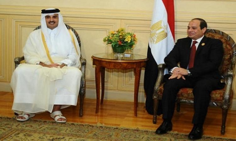 أمير قطر يهنىء السيسى بمناسبة حلول شهر رمضان