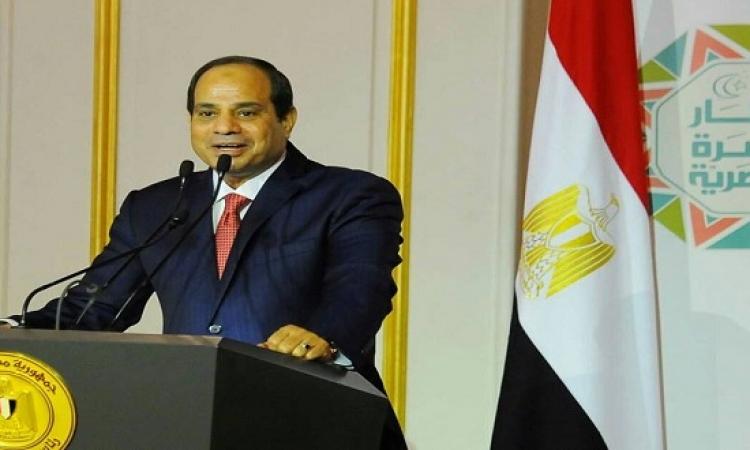 السيسى يؤكد عدم التفريط فى تراب مصر ويدعو للثقة بين القيادة والشعب