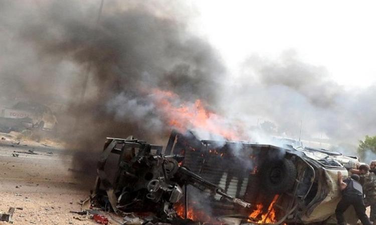 مقتل 12 جندياً فى انفجار سيارة مفخخة فى بنغازى