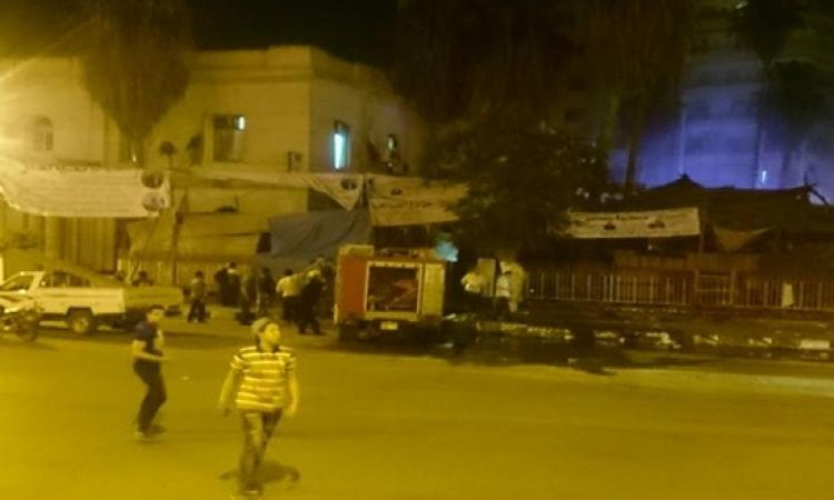 السيطرة على حريق هائل بأسواق تحيا مصر بالمحلة