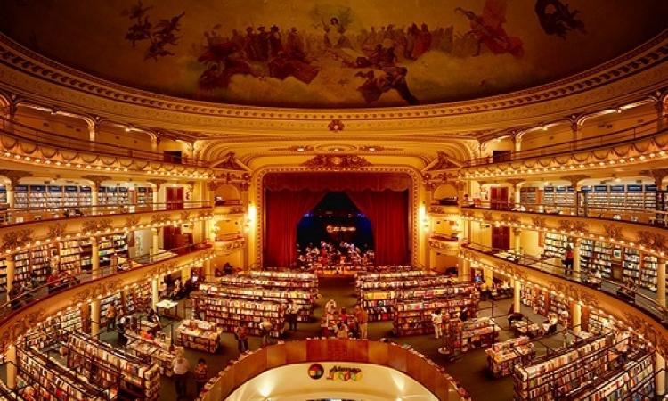 بالصور .. أقدم مسرح فى الارجنتين يتحول إلى مكتبة !!