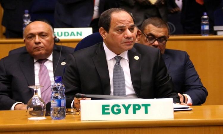 السيسى يشارك فى جلسة انتخاب رئيس المفوضية الأفريقية ونائبه والمفوضين