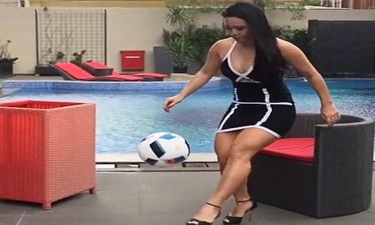 بالفيديو .. ملكة جمال الكرة تشعل مواقع التواصل باستعراض جديد
