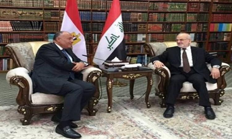 رسالة من السيسى لرئيس وزراء العراق ينقلها سامح شكرى ببغداد