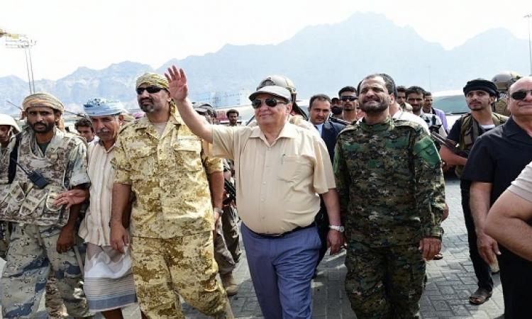 هادى يصل مأرب للإشراف على معركة تحرير صنعاء