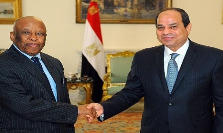 السيسى يؤكد دعم مصر لجهود استعادة الأمن والاستقرار بجنوب السودان