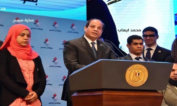 """الرئيس السيسى يهنئ أبطال مصر فى دورة الألعاب الأولمبية """"ريو 2016"""""""