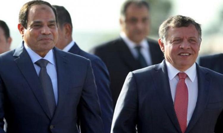 قمة مصرية – أردنية بالقاهرة اليوم بين السيسى والملك عبد الله