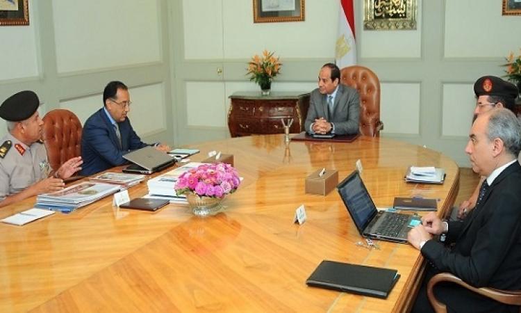 السيسى يستعرض موقف العاصمة الإدارية الجديدة