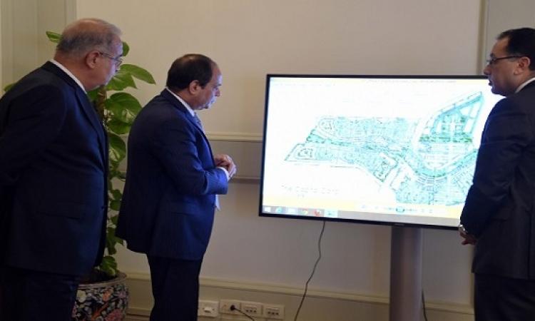 الرئيس السيسى يتفقد مدينة الإسماعيلية الجديدة شرق قناة السويس
