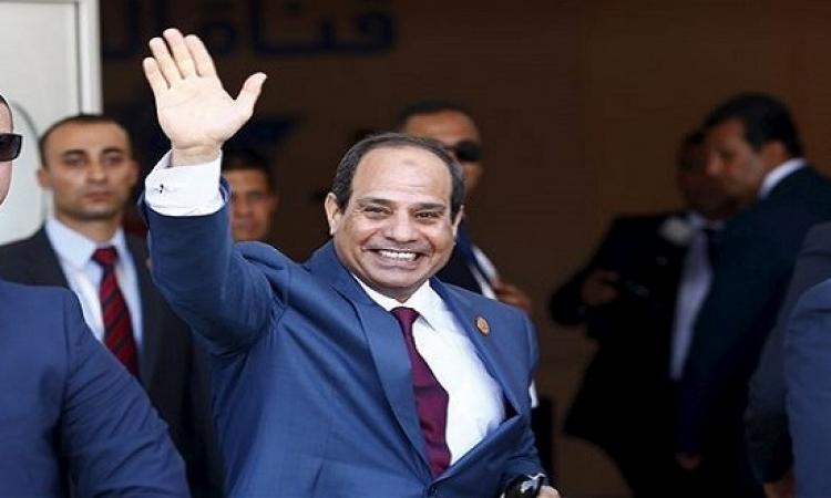 السيسى يشهد الاحتفال بمرور عام على افتتاح قناة السويس الجديدة