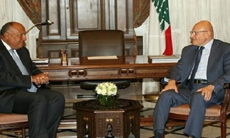 سامح شكرى يؤكد لسلام حرص مصر على استقرار لبنان