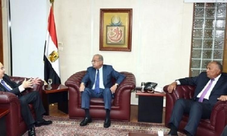 إسماعيل يبحث مع وزير خارجية قبرص تعزيز أوجه التعاون الثنائى