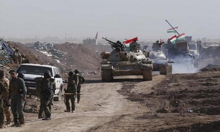 هجوم كبير من داعش على البشمركة قرب كركوك