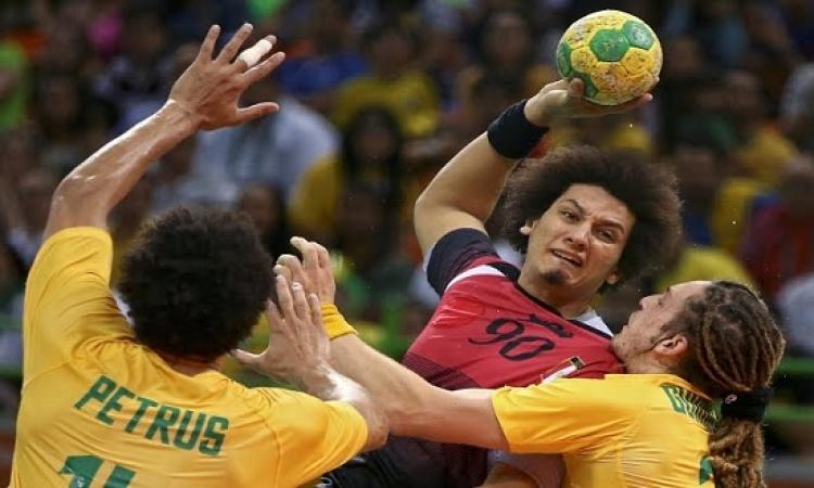 تعادل الفراعنة مع السامبا فى كرة اليد بالجولة الرابعة فى ريو 2016