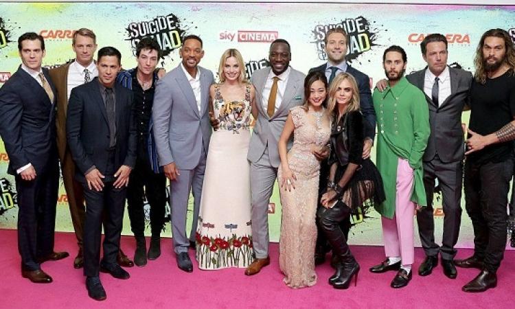 بالصور .. أبطال فيلم  Suicide Squad يتألقون فى العرض الخاص للفيلم بلندن