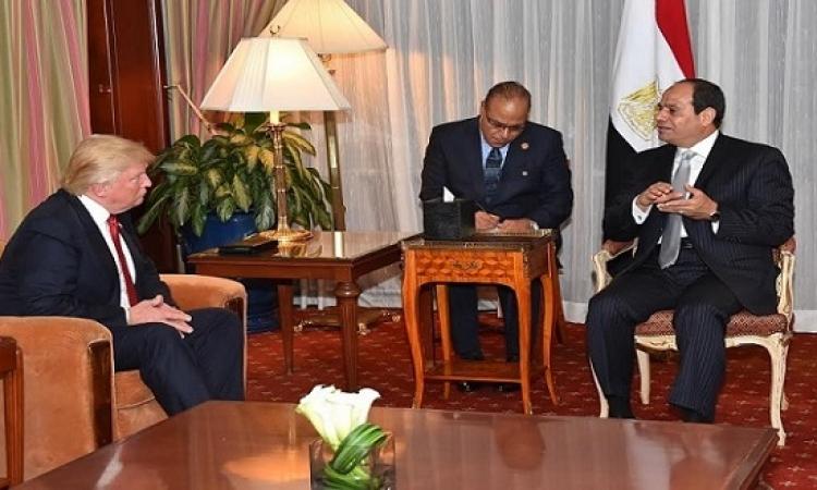 ترامب يؤكد للسيسى أن امريكا ستكون تحت إدارته حليفاً قوياً لمصر