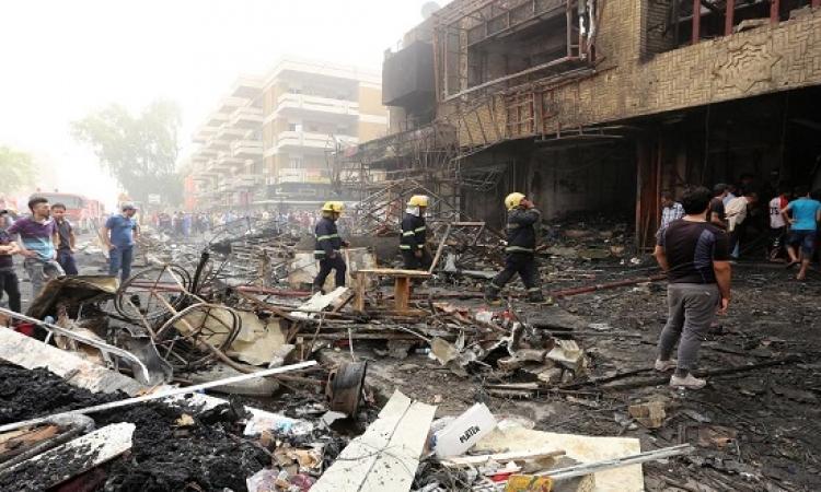35 قتيلاً و جريحا جراء تفجير انتحارى غرب بغداد