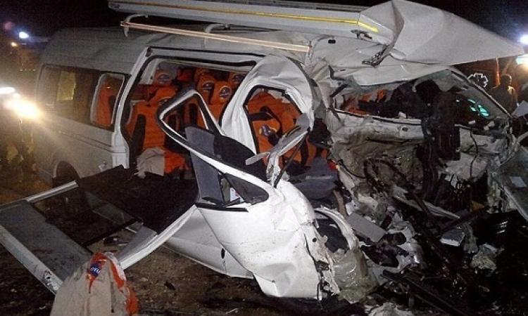 22 قتيلاً فى حادث تصادم مروع على طريق الواحات البحرية الفرافرة