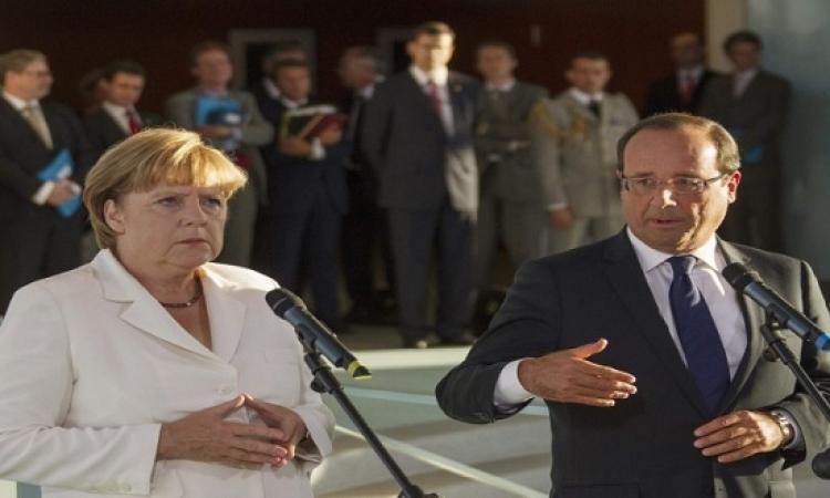 أنجيلا ورئيسة المفوضية الأوروبية فى اجتماع سرى