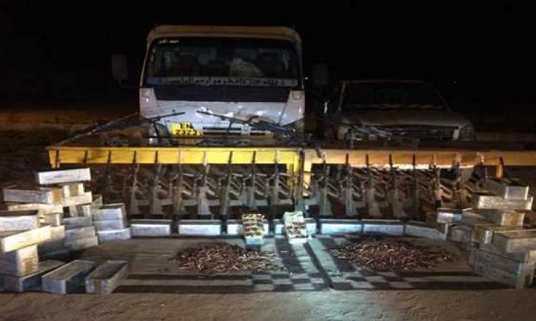 الداخلية : إحباط تهريب 260 بندقية لجماعات الارهاب فى سيناء