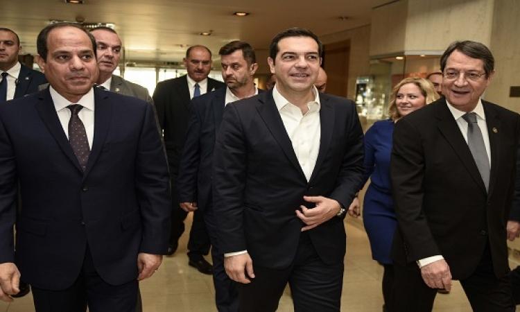 قمة ثلاثية مصرية – قبرصية – يونانية بقصر الاتحادية اليوم