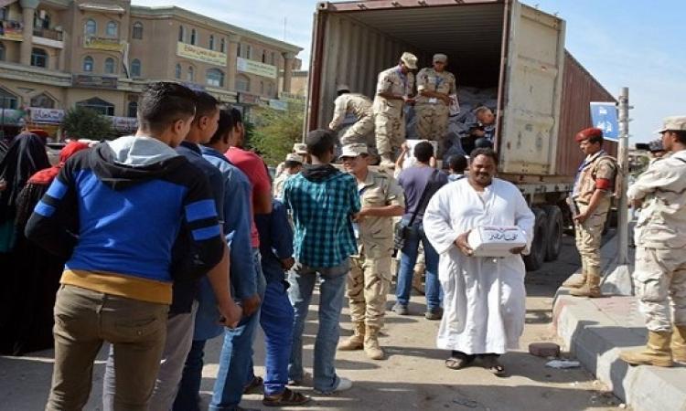 القوات المسلحة توزع مليون عبوة غذائية بمختلف محافظات الجمهورية