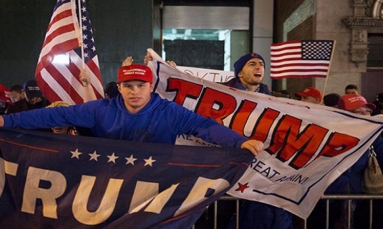بالصور .. أنصار ترامب يحتفلون بفوزه رئيساً