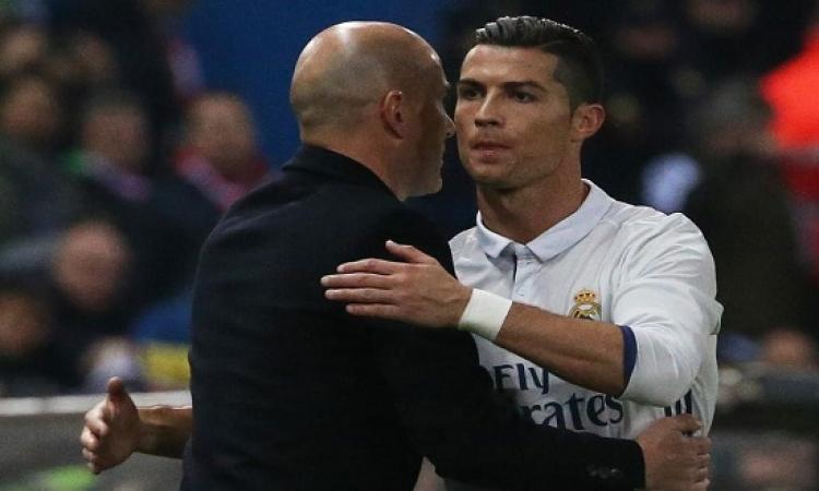 زيدان يغازل رونالدو : الآن عرفنا من أفضل لاعب بالعالم