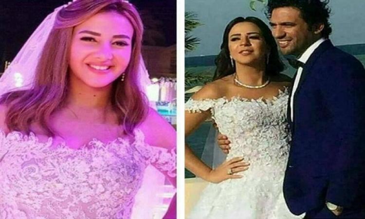 مفاجأة بالفيديو والصور .. إيمى لبست فستان زفاف اختها فى نيللى وشريهان !!