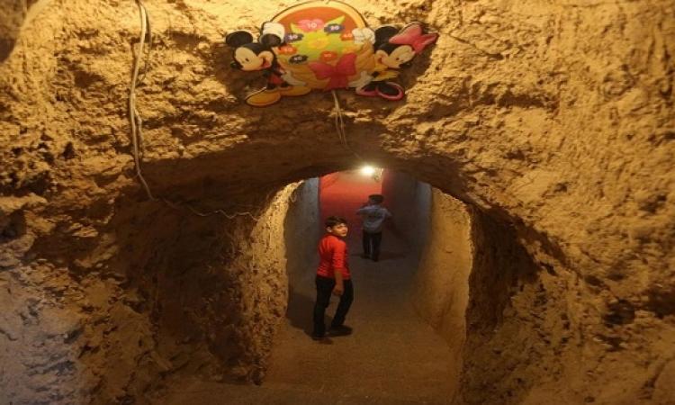 بالصور .. ملاهى تحت الأرض لتسلية أطفال سوريا